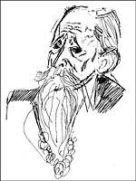 Б.В.Шергин. Рисунок Ю.Коваля, 1966.