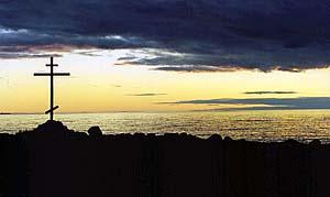 На берегу Соловецкого архипелага