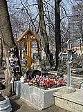 Могила Дарьюшки Соловецкой в Воскресенском Новодевичьем монастыре Санкт-Петербурга