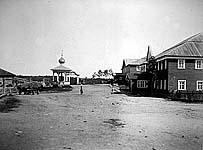 Общий вид улицы. Фото нач. ХХ в. Я.И.Лейцингера. Из архива АОКМ