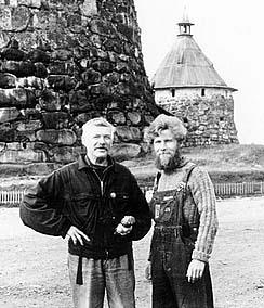 Александр Баженов и Геннадий Правдин, Соловки. Фото Ю.Зеленцова