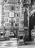 Крест Савватия в Свято-Троицком соборе. Фрагмент фотографии Я.Лейцингера кон. XIX в.