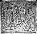 «Аггелы Божии привезоша Зосиме хлебы в кереже». Фрагмент раки прп. Зосимы 1566 г.
