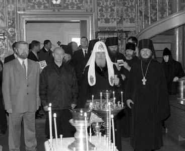 Торжества в Соловецкой обители 20–22 августа           2001 года