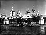 Вид на монастырь из гавани Благополучия, 1915 г. Фото С.М. Прокудина-Горского